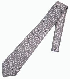 ネクタイ ミラショーン 小紋柄 ブランド代表柄 ブランドロゴ入り グレー お洒落 インポートネクタイ 変化柄