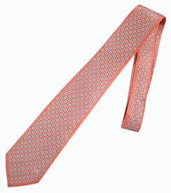 ネクタイ ミラショーン 小紋柄 ブランド代表柄 ブランドロゴ入り オレンジ お洒落 インポートネクタイ 変化柄
