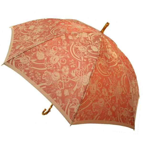 傘 80歳 お祝い 傘寿 プレゼント 槙田商店 甲州織 kirie 更紗 赤 03660001