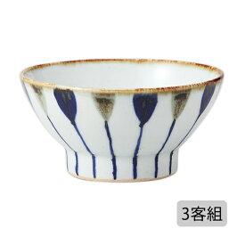 食器 器 碗 茶碗 セット 3客組 おしゃれ 可愛い くらわんか 波佐見焼 陶器 日本製 二色錆十草 くらわんか碗 (小) 3客組 12828