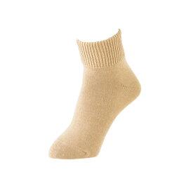 靴下 レディース 冷え 保温 日本製 ビビエルボ 婦人深口ソックス ベージュ 7017