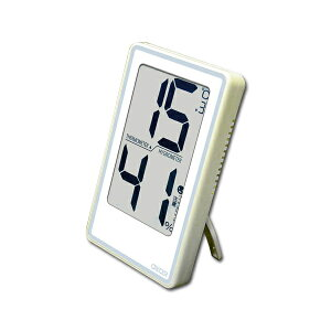 クレセル CRECER 温度計 湿度計 コンパクト 壁掛 スタンド リビング キッチン 子供部屋 寝室 見やすい 熱中症 インフルエンザ 風邪 予防 ホワイト 白 デジタル温湿度計 デカ文字 CR-2000W