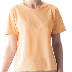 半袖tシャツ レディース 日本製 スポーツ アウトドア ひんやり涼感Tシャツ オレンジ
