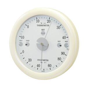 クレセル CRECER 快適計 温度計 湿度計 壁掛用 白 卓上用 ホワイト 丸い リビング キッチン 書斎 寝室 子供部屋 見やすい 日本製 サーモキーパー 快適計付き 温湿度計 CR-24W