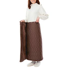 巻きスカート 防寒 冬 あったか 冷え かわいい キルティング フリース あったか ロング レディース 足の冷え ひざ掛け 裏ファー巻きスカート ココア