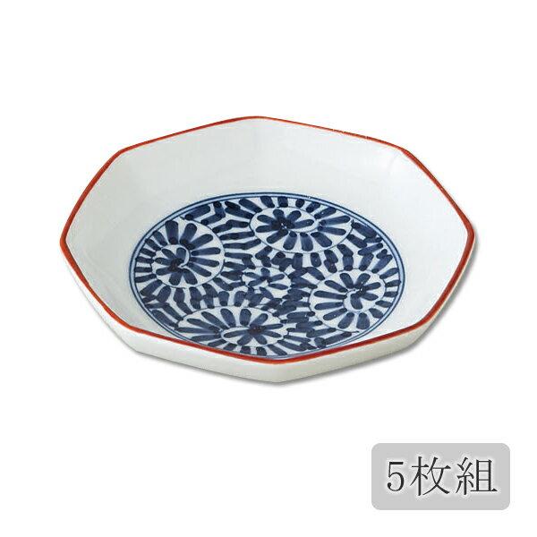 食器 八角 皿 小皿 セット 5枚 上品 可愛い おしゃれ 和食器 磁器 プレゼント 贈り物 日本製 有田焼唐草 八角小皿 5枚組 72691