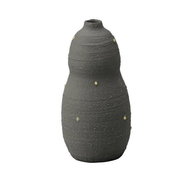 花入 小さい 花瓶 一輪挿し 花瓶 陶器 花瓶 モダン 花器 ユニーク インテリア 季節 癒し 陶器 日本製ひさご黄水玉 G5-3910