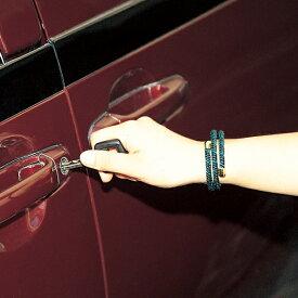 ブレスレット おしゃれ 効果 悩み 解決 レッド 静電気 防止 フリーサイズ グリーン 日本製静電気防止ブレスレット サンダーガード 緑