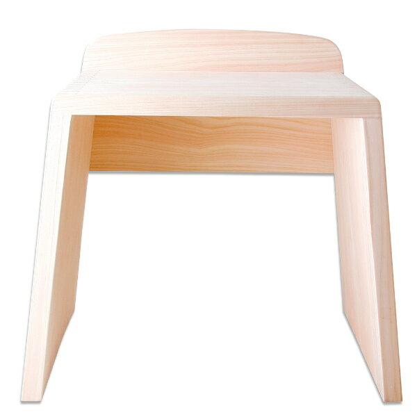 浴室用 風呂用 バスルーム お風呂 椅子 ひのき 木製 浴室用とちぎ桧椅子(大)