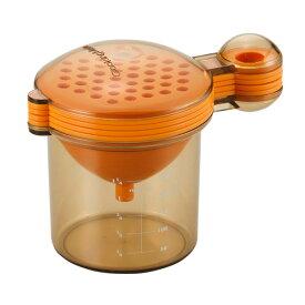キッチングッズ 調理器具 便利グッズ 軽量カップ おろし器 レモン搾り 黄身取り ロート オレンジ 日本製 クッキングメイト オレンジ