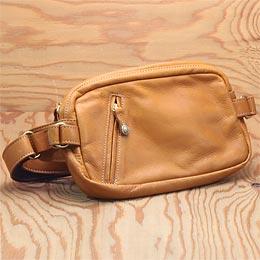 KC,s ケイシイズ ショルダーポーチ スクウェア スリー タン ポーチ バッグ ショルダーバッグ ウエストポーチ ウエポ 小物入れ 旅行 斜めがけ KC,s leather craft ケーシーズ 本革 ブランド [即納品][優れものA]