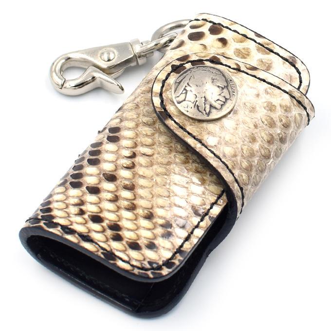 KC,s キーケース ハンギング パイソン(ニシキヘビ革)(4連)[KC,s leather craft][ケイシイズ][ケーシーズ][本革][レザークラフト][メーカー取り寄せ/在庫未確定商品]【優れものA】