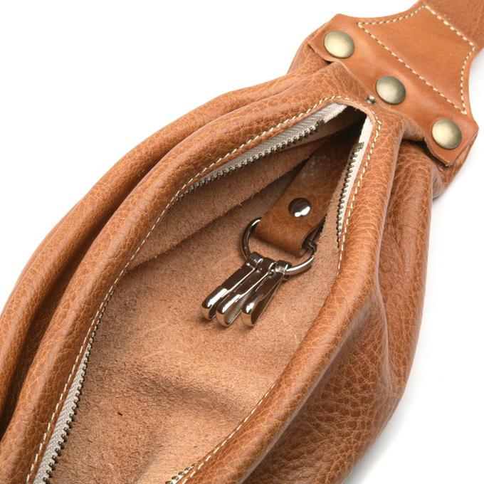 KC,s ケイシイズ ショルダーポーチ ジッパー 牛皮革 栃木レザー ポーチ バッグ ショルダーバッグ ウエストポーチ ウエポ 小物入れ 旅行 斜めがけ KC,s leather craft ケーシーズ 本革 ブランド [メーカー取り寄せ商品][優れものA]
