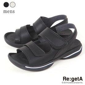 リゲッタ サンダル メンズ グランスタイルベルクロサンダル 男性用 ストラップ 歩きやすい 高級感 上品 ハイエンド サンダル マジックテープ ベルクロ 日本製 JPR010 JPR-010 7c919