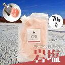 岩塩 ピンク 食用 しお ソルト 送料無料 500円 鉄分 ミネラル ギフト プレゼント お試し 小袋 アンデス ボリビア共和国 熱中症対策 塩分 紅塩
