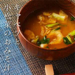 キャベツと小松菜のおみそ汁 10個入り (送料無料)