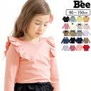 韓国子供服◇長袖トップス◇リボン パフスリーブ プルオーバー フリル ボーダー セーラー 韓国 女の子 子ども服 Bee …