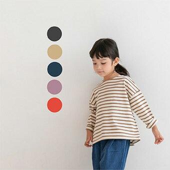 ボーダー・長袖・Tシャツ・5color・90cm・100c・110cm・120cm・130cm・子供時代