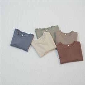 コットン・ラウンド・長袖・Tシャツ・子供時代・オリジナル商品・5color・90cm・100c・110cm・120cm・130cm・子供時代