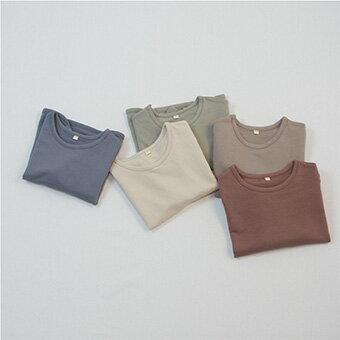 コットン・ラウンド・長袖・Tシャツ・5color・90cm・100c・110cm・120cm・130cm・子供時代