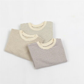 スーパーSALE・ストライプ・長袖・Tシャツ・3color・90cm・100c・110cm・120cm・130cm・子供時代
