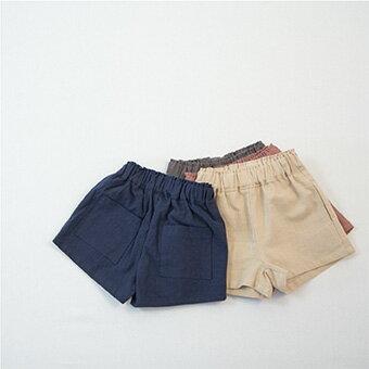 SUMMER SALE・リネン・ポケット・ハーフ・ショート・パンツ・4color・100cm・110cm・120cm・130cm・韓国子供服・子供時代