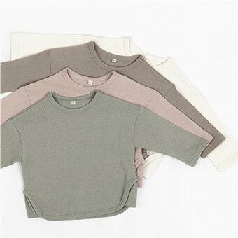 NEW・三角・長袖・Tシャツ・4color・90cm・100c・110cm・120cm・130cm・子供時代
