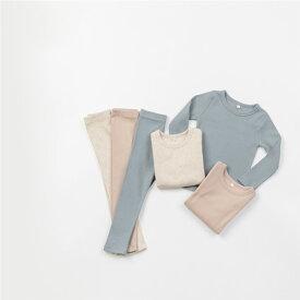 リブ・ラウンジウェア・オリジナル商品・長袖・Tシャツ・パンツ・上下セット・3color・90cm・100c・110cm・120cm・130cm・子供時代