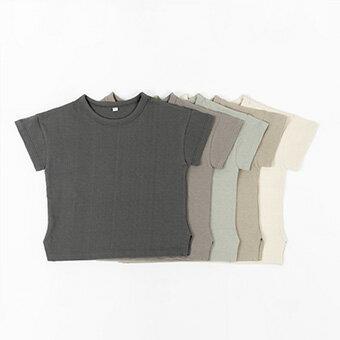 NEW・シンプル・半袖・Tシャツ・5color・90cm・100c・110cm・120cm・130cm・子供時代