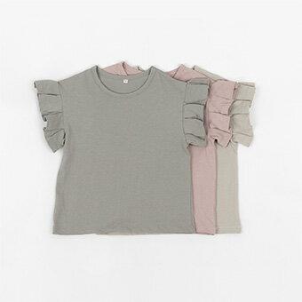 新着ポイント5倍・NEW・ラッフル・半袖・Tシャツ・3color・90cm・100c・110cm・120cm・130cm・子供時代