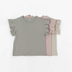 スーパーSALE・NEW・ラッフル・半袖・Tシャツ・3color・90cm・100c・110cm・120cm・130cm・子供時代