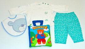 ベビー洋品Tシャツ&パンツセットスタイ布絵本リトルベビーベアの長袖&長パンツ 12M&おしゃれなビブ ベア&dress up bear Bookkくまちゃんギフト3点セット選んで!! 無料ギフトラッピング