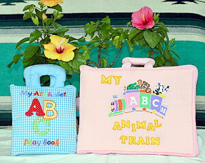 布絵本My Alphabet ABC play book&MY ABC ANIMAL TRAIN ピンクファンタイム・プレイ&ラーンギフトセット【知能開発レッスンブック】英語教育幼児教育選んで!!無料ギフトラッピング