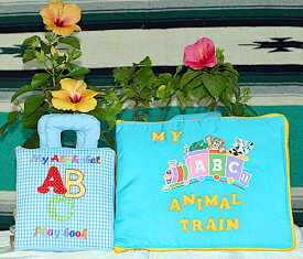 布絵本My Alphabet ABC play book&MY ABC ANIMAL TRAIN ブルーファンタイム・プレイ&ラーンギフトセット【知能開発レッスンブック】英語教育幼児教育選んで!!無料ギフトラッピング