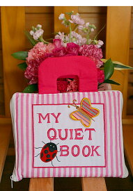 布絵本MY QUIET BOOK NEW ENGLISH VERSIONマイクワイエットブック ニュー英語刺しゅう版ピンクストライプ知能開発レッスンブック幼児教育選んで!!無料ギフトラッピング