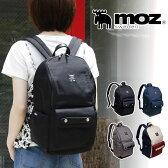 moz17LリュックZZCI-03Aマザーズリュックマザーズバッグリュックサックデイパックディパック鞄バッグ背面ファスナー付きブラックトリコロール人気ブランドモズおしゃれ通勤通学普段使いA4ママレディース女性