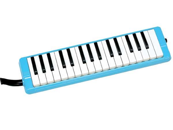 【かいめいシールプレゼント!】全音 ゼンオン ピアニー 323AH ブルー(本体・卓奏歌口・立奏歌口・ハードケースのセット)【鍵盤ハーモニカ】02P03Dec16