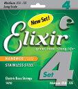Elixir Bass Strings Stainless Steel Medium【送料無料】【クロネコDM便発送】【smtb-tk】