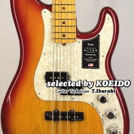 【New】Fender American Ultra Precision Bass MN Plasma Red Burst(selected by KOEIDO)店長厳選初のウルトラプレべ!フェンダー 光栄堂