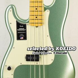 【New】Fender USA American Professional2 Precision Bass Left-Hand MN Mystic Surf Green(selected by KOEIDO)店長厳選!別格の初レフトハンド・プレベ!フェンダー 光栄堂