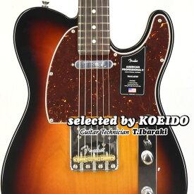 【New】Fender American Professional2 Telecaster RW 3TSB(selected by KOEIDO)店長厳選、命を持つ別格の最新プロフェッショナル2!フェンダー 光栄堂