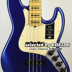 【New】Fender USA American Ultra Jazz Bass MN Cobra Blue(selected by KOEIDO)店長厳選ウルトラジャズべ!煌めく別格のトーン!フェンダー 光栄堂