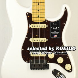 【New】Fender American Ultra Strato HSS MN Arctic Pearl(selected by KOEIDO)店長厳選!別格のウルトラHSS!フェンダー 光栄堂