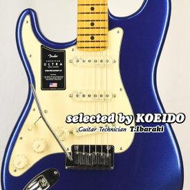 【New】Fender American Ultra Strato Left-Hand MN Cobra Blue(selected by KOEIDO)店長厳選初!別格のウルトラ・レフトハンド!フェンダー 光栄堂