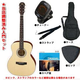 Aria アコースティックギター ARIA-201 初心者セット 入門セットフォークギター 【レビュー特典付き】【女性にもお勧め】【ギター通販】