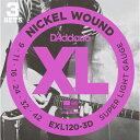 D'addario EXL120-3D【3パックセット】ダダリオ エレキギター弦【送料無料】【クロネコDM便発送】