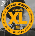 D'addario EXL125-3D【3パックセット】ダダリオ エレキギター弦【送料無料】【定形外郵便発送】