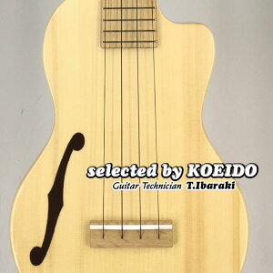 【New】Quiam Ezo's Ukulele Concert Through Neck Custom F(selected by KOEIDO)店長厳選最新Fホール・コンサート!クワイアン ウクレレ
