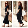 It is female office worker mom mother for 40 generations for 30 generations for dress ONE PIECE short sleeves UV cut maxi length dress resort long length adult of superior grade tight long shot dress navy dark blue black black khaki 20 generations in the