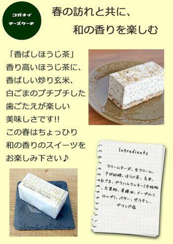 【あす楽】香ばしほうじ茶のレアチーズケーキ[6個入り]